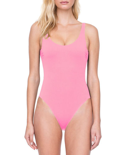 Au Natural Scoop-Neck One-Piece Swimsuit