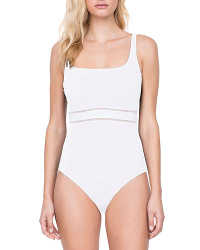 bb478f7f219 Quick Look. Gottex · Finesse Square-Neck One-Piece Swimsuit