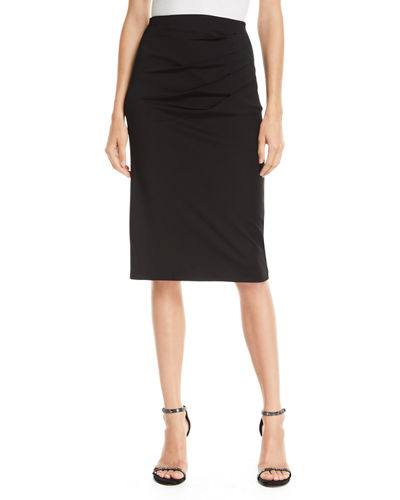 Lavana Pleated Pencil Skirt