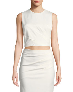 72bf5770bad Alice + Olivia Olive Pleated Fitted Tank