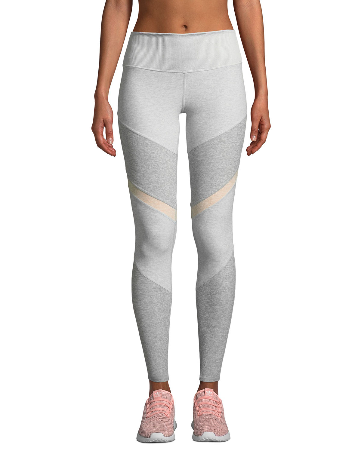 60a57119031b4c Alo Yoga Sheila High-Waist Mesh Panel Leggings | Neiman Marcus