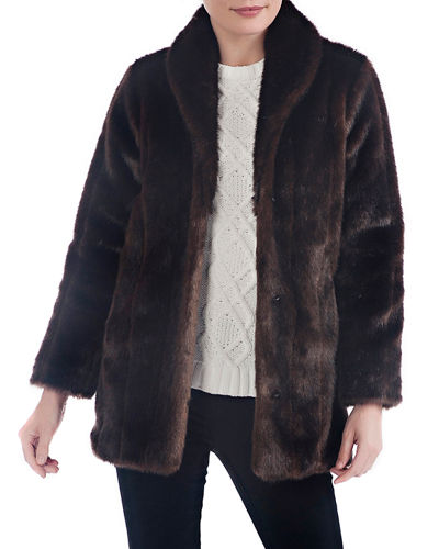 d0555de1da Quick Look. Fabulous Furs · Leopard Faux Fur Shawl Jacket