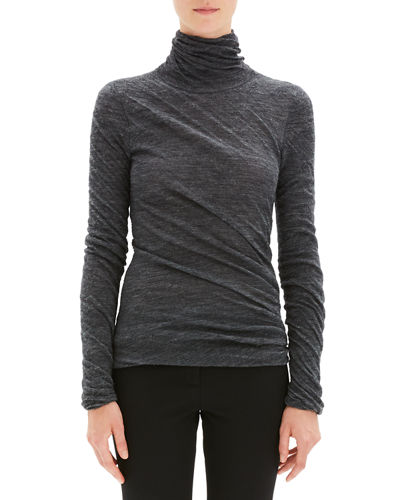 Twisted Turtleneck Alpaca Sweater