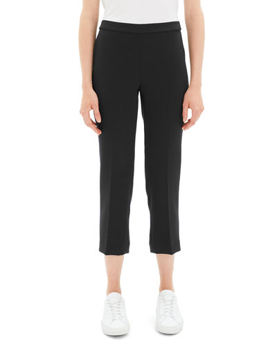 Theory Black Cropped Pants Neiman Marcus