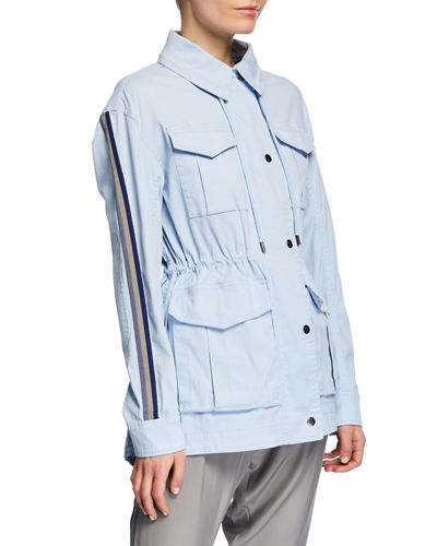 ATM Anthony Thomas Melillo Cotton Twill Field Jacket with Stowaway Hood