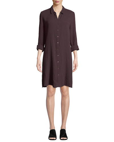 b4a179bf887d Long Sleeves Modern Shirt Dress