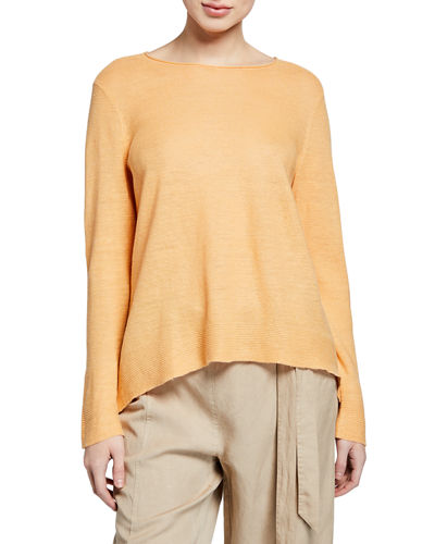 8630789f915 Quick Look. Eileen Fisher · Plus Size Organic Linen Long-Sleeve Tunic