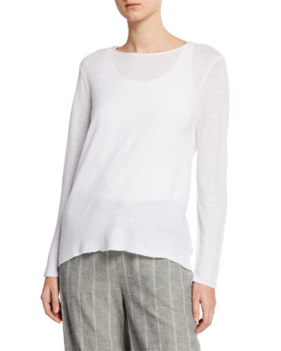 77189818f41 Quick Look. Eileen Fisher · Plus Size Organic Linen Long-Sleeve Tunic