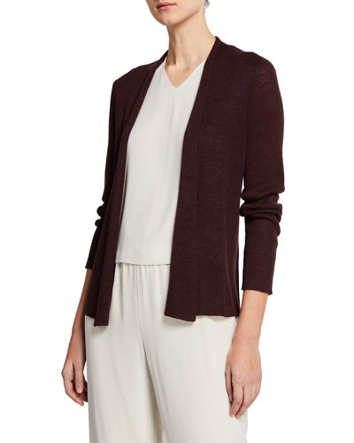 73158b8ce55 Quick Look. Eileen Fisher · Open-Front Long-Sleeve Shaped Organic Linen  Cardigan