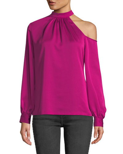 Negroni Asymmetric Long-Sleeve Top