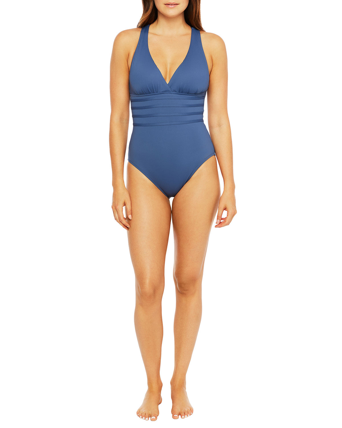 La Blanca Suits Island Goddess Strappy-Back One-Piece Swimsuit
