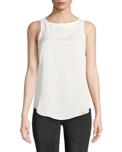c9770a1181ac5 Quick Look. Theory · Modern Racerback Silk Georgette Tank