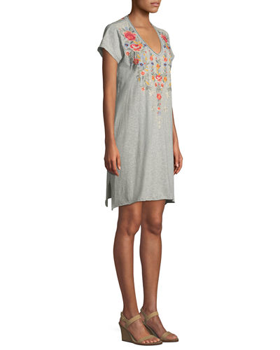 Hazleton Draped Tunic Dress, Plus Size