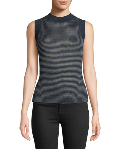 Raina Slim Ribbed Crewneck Tank Top