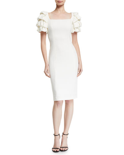 05b9af5c4d713 Quick Look. Badgley Mischka Collection · Square-Neck Cocktail Dress w   Looped Sleeves