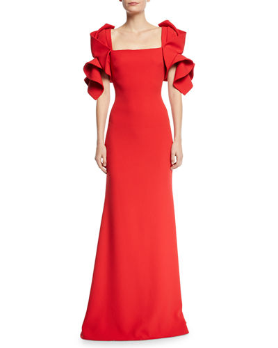 Origami Sleeve Gown