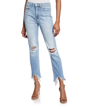 7b32be9002 L'Agence High Line High-Rise Distressed Skinny Jeans with Shredded Hem