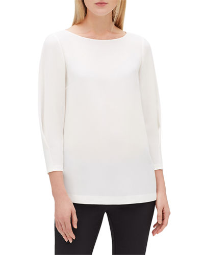 7abd0a5a24269c Off White Polyester Blouse