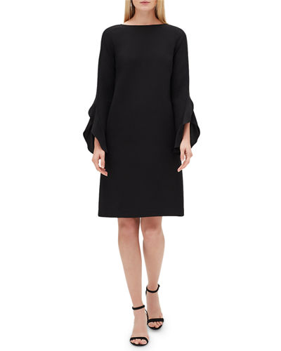 Emory Finesse Crepe Shift Dress, Plus Size