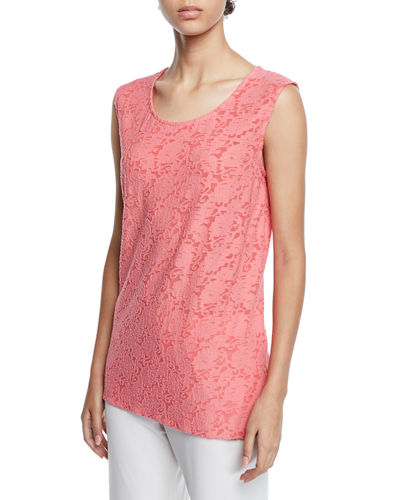 Plus Size Rose Garden Scoop-Neck Longer Tank