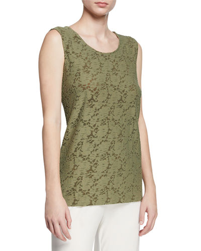 Rose Garden Scoop-Neck Longer Tank
