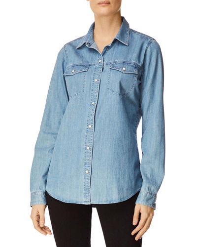 46b01a8d891387 Quick Look. J Brand · Perfect Denim Button-Front Long-Sleeve Shirt