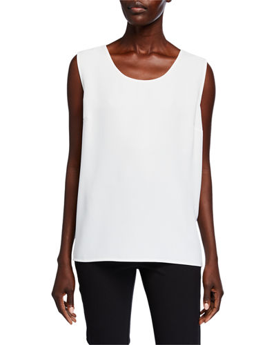 Crepe Suzette Longer Tank with Side Slits