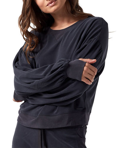 Amour Cropped Pullover Sweatshirt