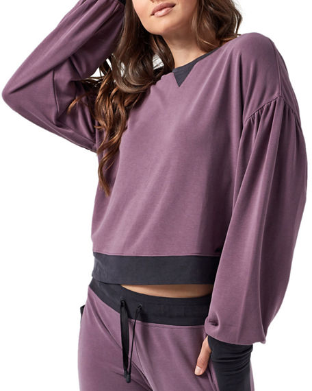 BLANC NOIR Linings AMOUR CROPPED PULLOVER SWEATSHIRT