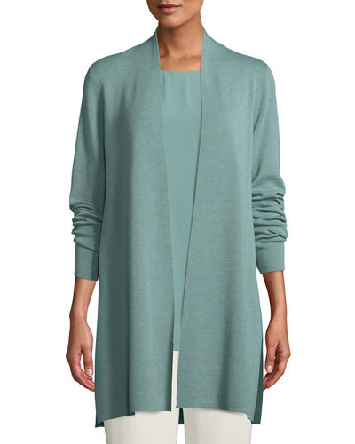 Plus Size Ultrafine Merino Straight Long Cardigan