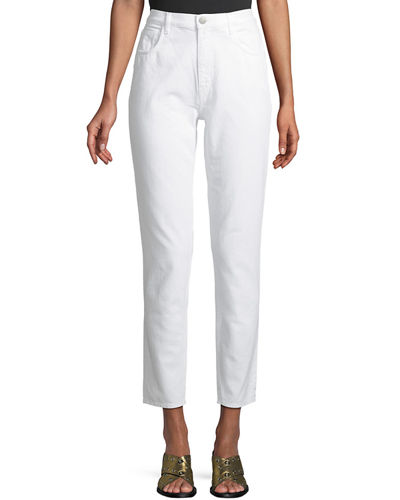Mimi High-Rise Straight-Leg Ankle Jeans