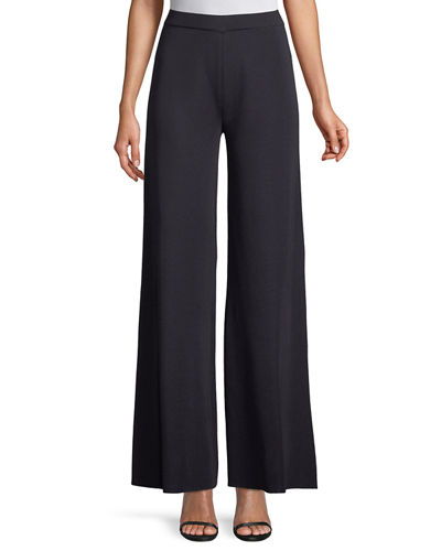 0a1b6ddf7624f Quick Look. Misook · Plus Size Knit Palazzo Pants. Available in Blue