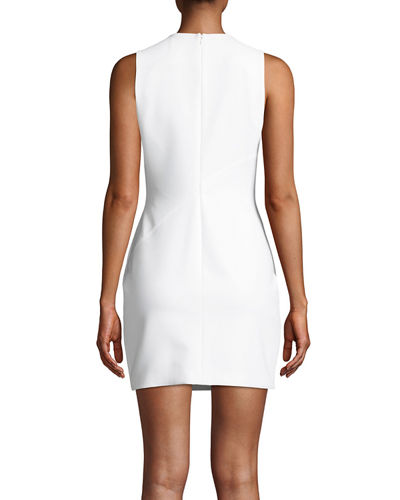 cinq a sept Vita Tie-Front Sleeveless Mini Dress