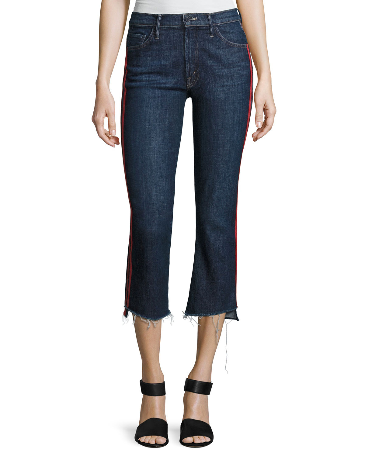 Mother Jeans INSIDER CROP JEANS W/ STEP FRAY