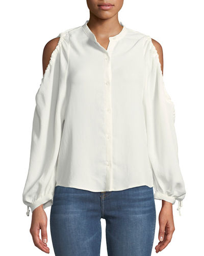 d49411e4966c1c Quick Look. 7 For All Mankind · Button-Down Cold-Shoulder Top. Available in  White
