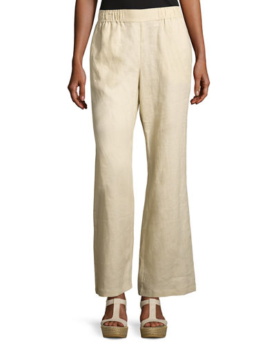 4a82d9dff17b9 Quick Look. Go Silk · Petite Linen Wide-Leg Pants
