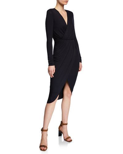 Asymmetric-Jersey Midi Dress