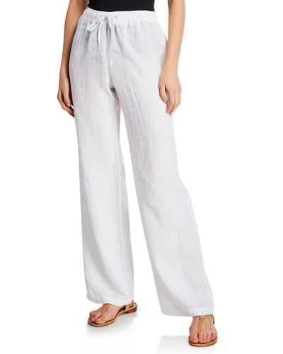 605d8be831e3 Quick Look. 120% Lino · Drawstring-Waist Wide-Leg Linen Beach Pants.  Available in Blue, White