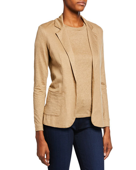 Majestic Filatures One-Button Linen Blazer