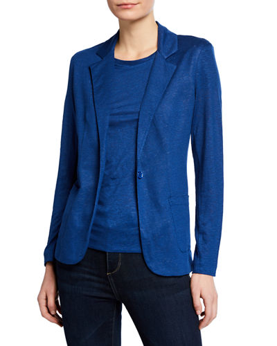 One-Button Linen Blazer