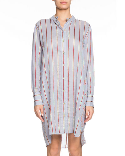 cd1e75e3f81 Cotton Long Sleeve Shirt Dress