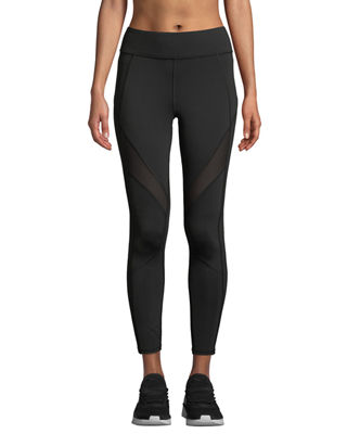 MICHI Mist Colorblock Performance Leggings in Black
