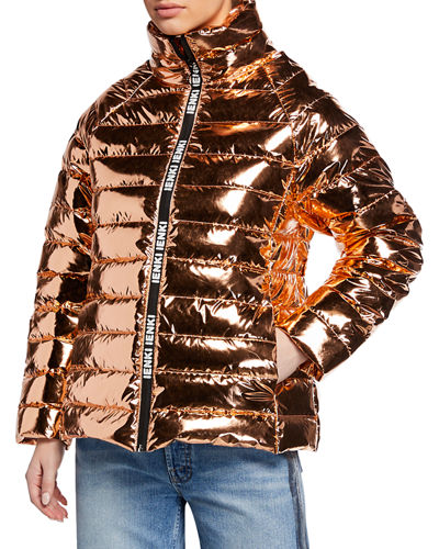 Anon Metallic Puffer Jacket
