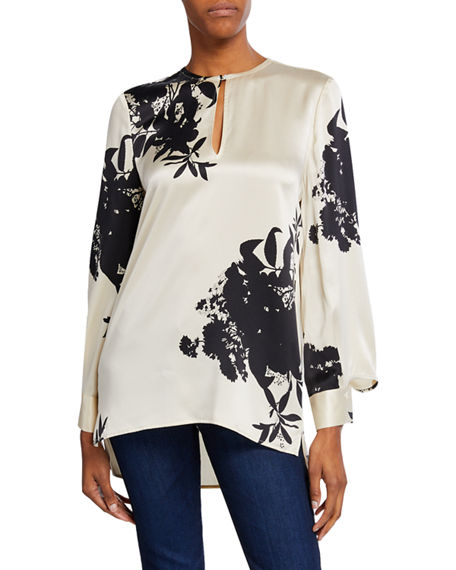 Equipment Tops DELAINEY TWO-TONE LONG-SLEEVE BLOUSE