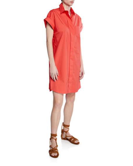 Finley PLUS SIZE CHARLIE BUTTON-FRONT SHORT-SLEEVE DRESS