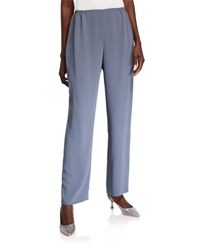 Suzette Crepe Straight-Leg Pants