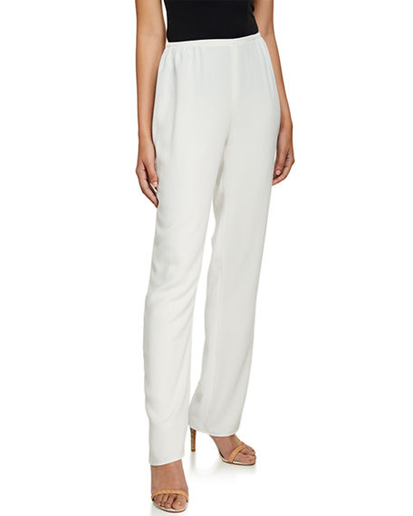 Image 1 of 4: Caroline Rose Plus Size Suzette Crepe Straight-Leg Pants