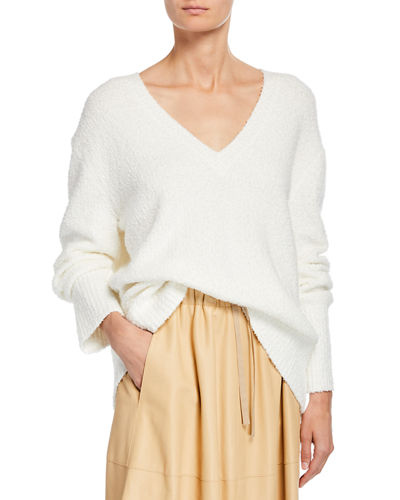 Textured V-Neck Oversized Tunic