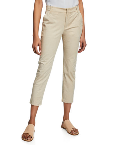 ba453091 Quick Look. Vince · Straight-Leg Cropped Chino Pants. Available in Brown