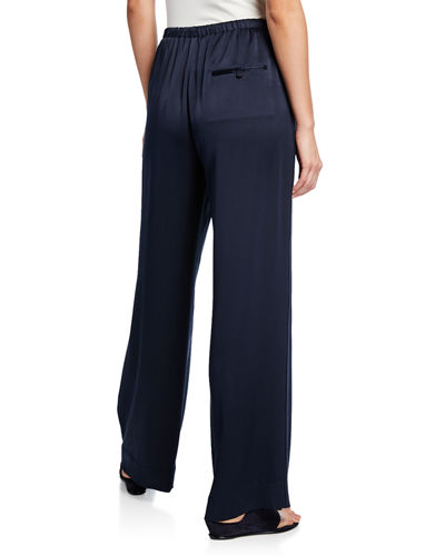Vince Satin Wide-Leg Pajama Pants
